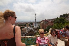 Park Guell, View Of Barcelona