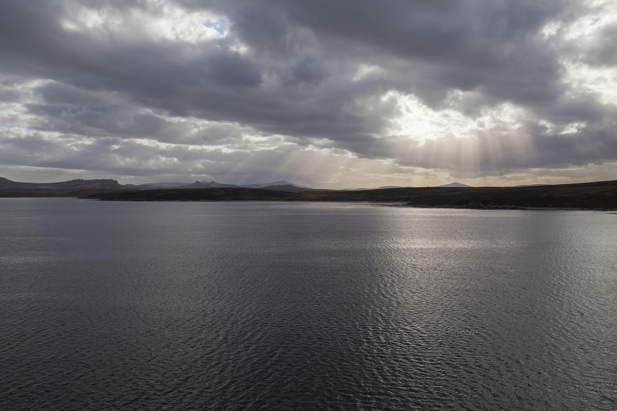 Sunbeams Through Clouds, Falkland Islands