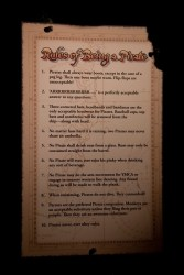 Rules Of Being A Pirate