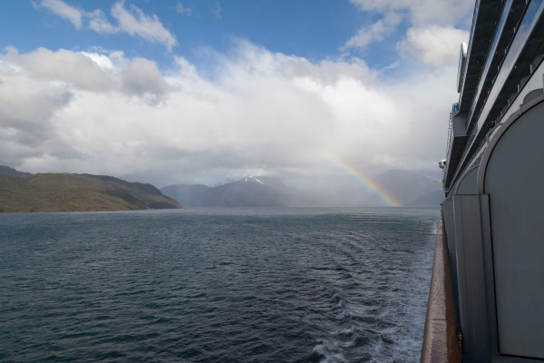 Rainbow, Fjord, Chile