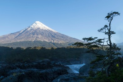 Petrohué Waterfalls And Osorno