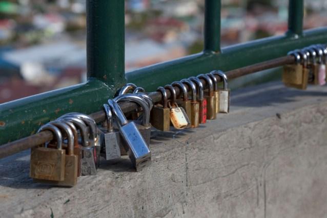 Locks On Railings