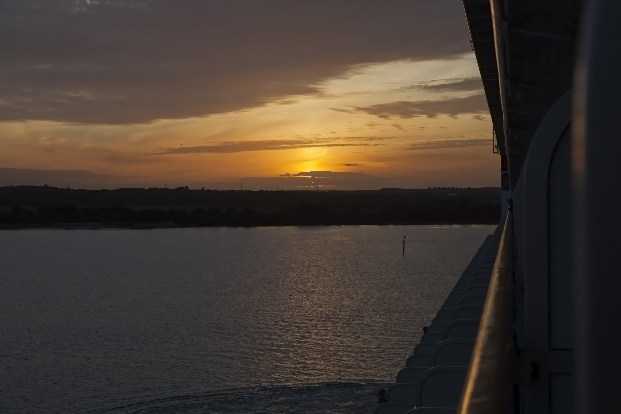 Southampton Sunset From Azura