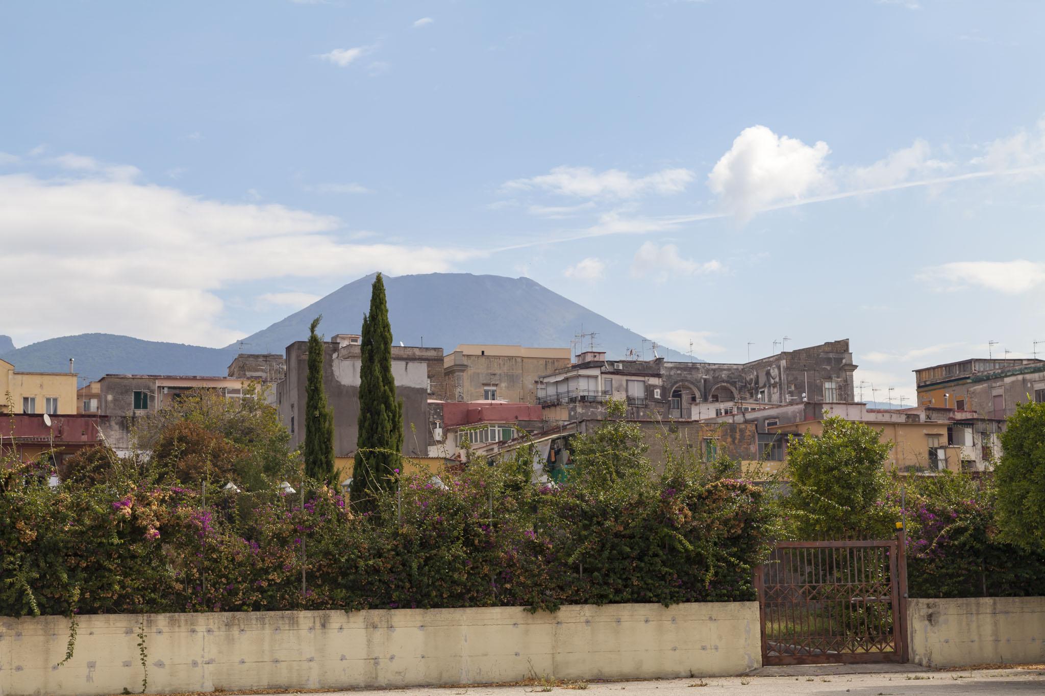 Herculaneum Entrance, View Of Vesuvius
