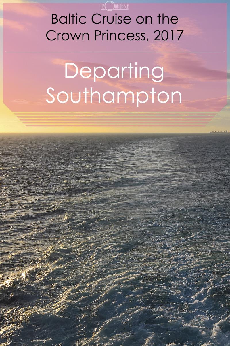 Departing Southampton