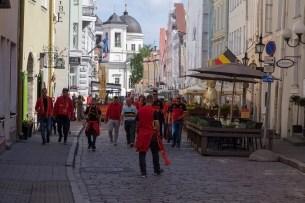 Belgian Football Fans, Tallinn, Estonia