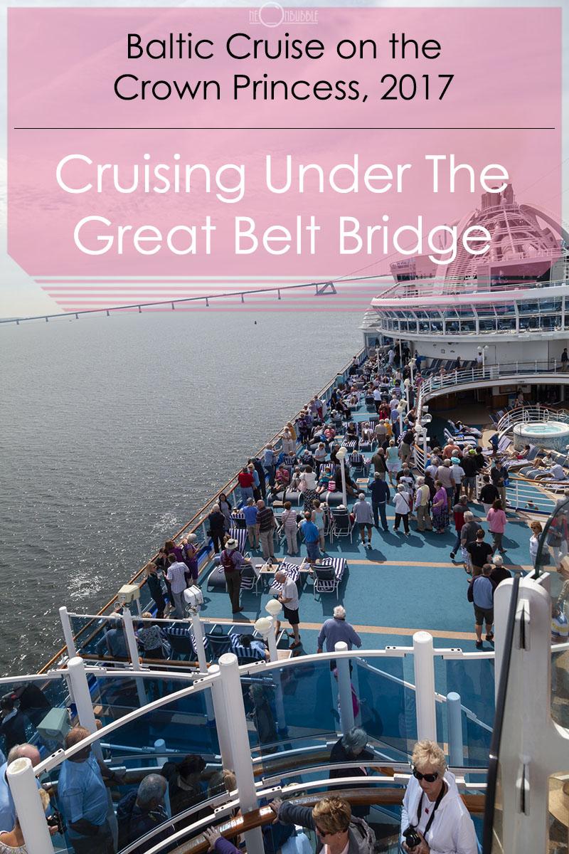 Cruising Under The Great Belt Bridge, Denmark