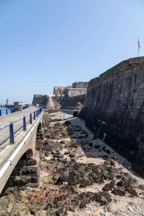 Approaching Castle Cornet