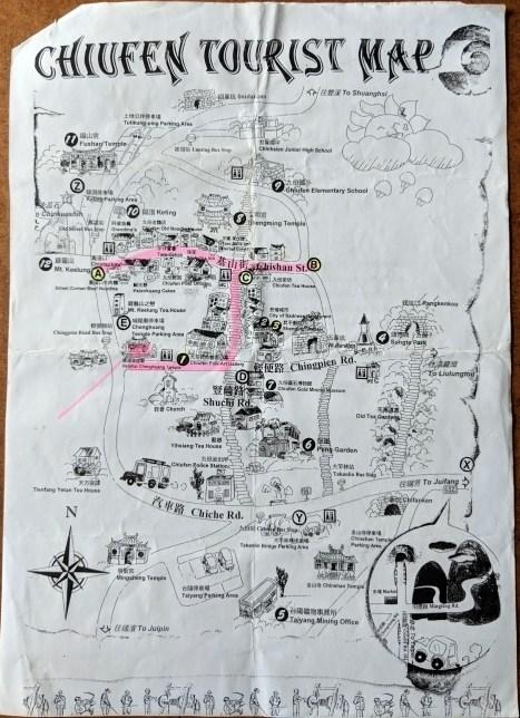 Jiufen Tourist Map