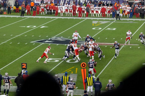 Gillette Stadium 2011, Patriots vs Chiefs