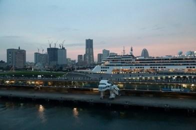 Diamond Princess Leaving Yokohama