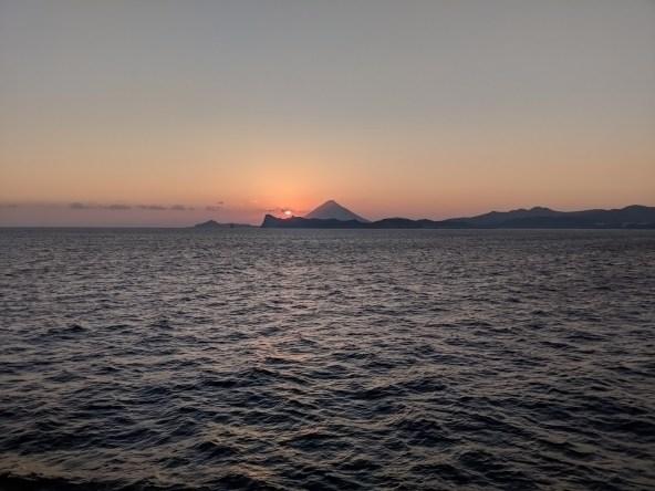 Kaimondake Volcano, Sunset