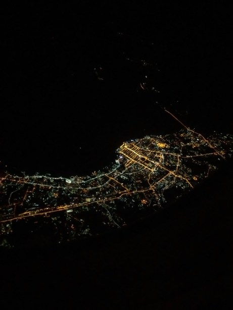 Russia From The Air At Night
