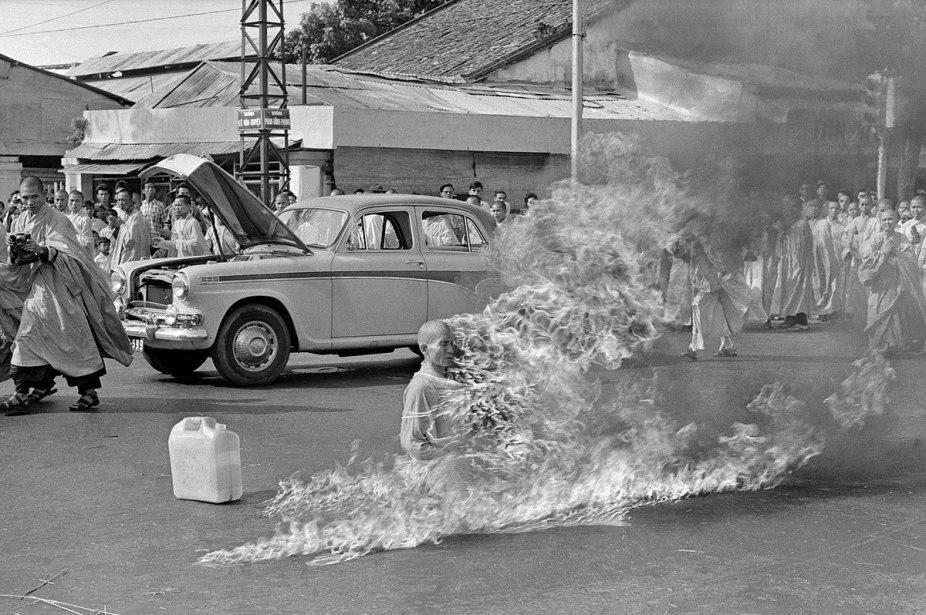 Self Immolation Of Thích Quảng Đức by Malcolm Browne, AP.