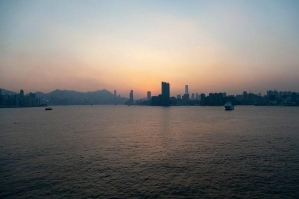 Hong Kong Harbour Sunset