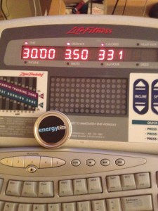 Monday's Treadmill Run