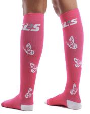 SLS3 Butterfly socks in Pink.