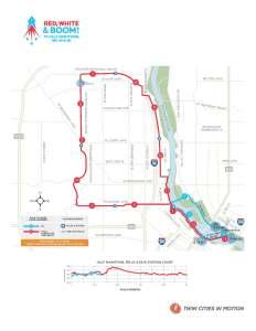2016 #RunTheBoom Half Marathon Course Map