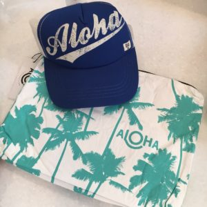 June #MustHaveBox by PopSugar - Aloha 100% coated Tyvek Bag and Billabong Trucker Hat