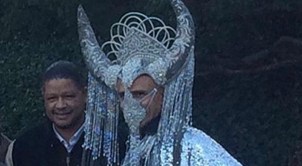 the image shows former president barack obama dressed as satan