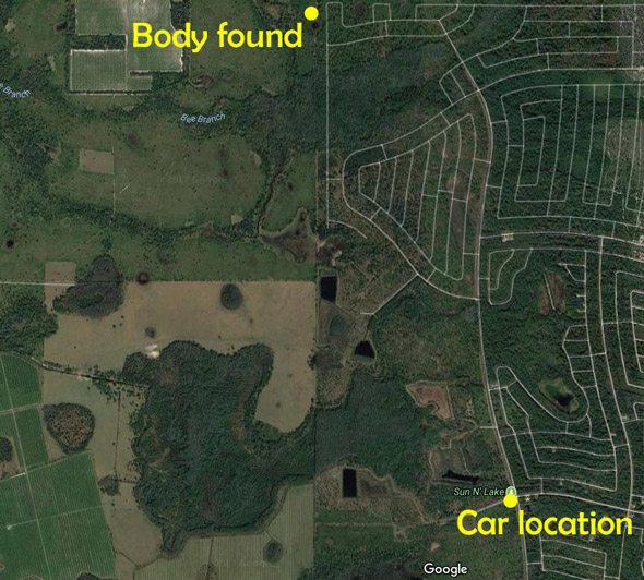 ronald bernard s body was found in the wilderness away from his abandoned car