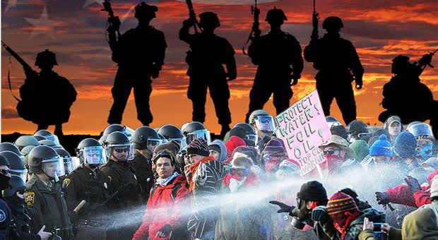 thousands of ex army veterans have teamed up and heading towards standing rock to protect protesters of the dakota access pipeline from police brutali