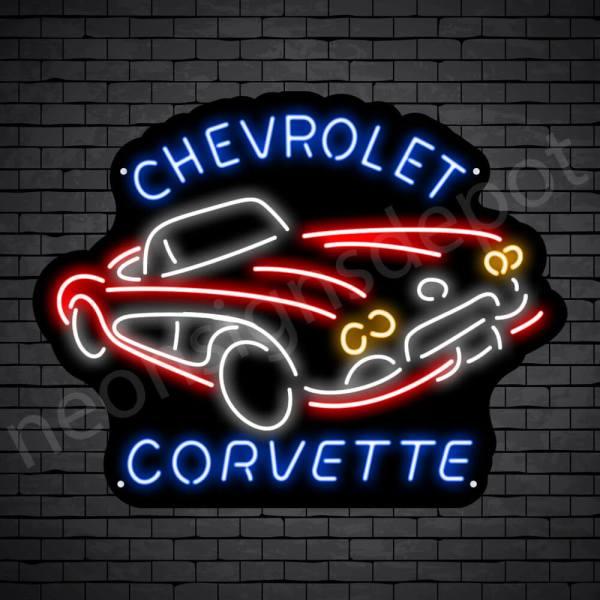Chevy Corvette Sign - Black