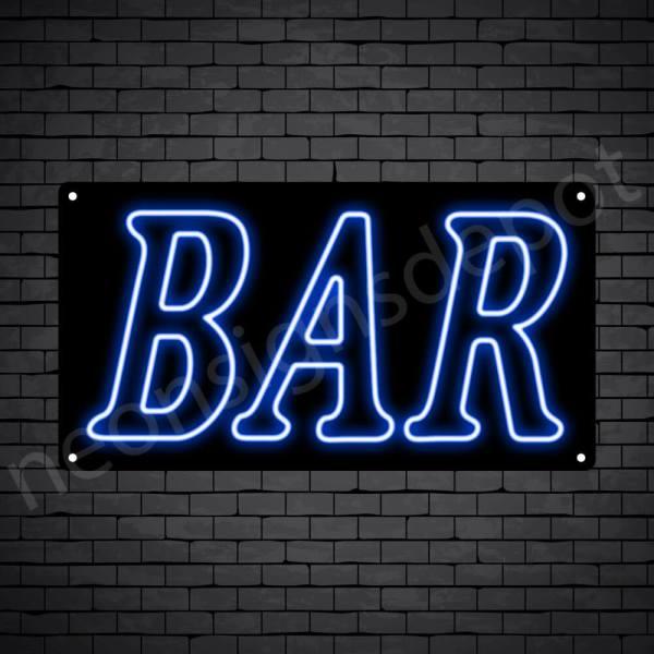 Bar sign Blue - Black