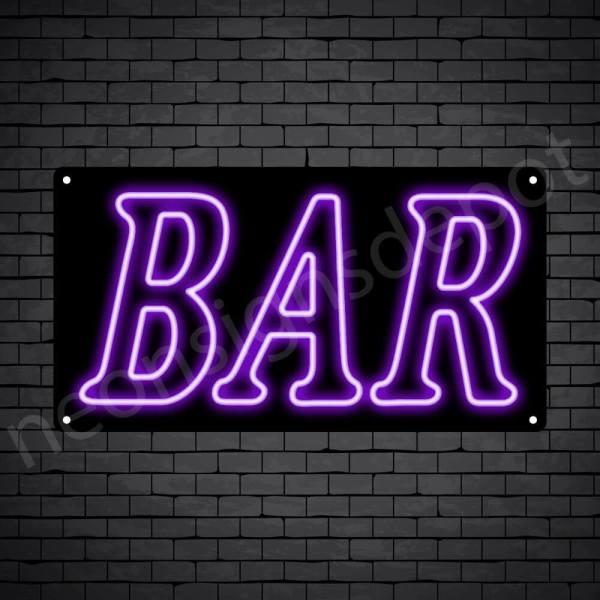 Bar sign Purple - Black