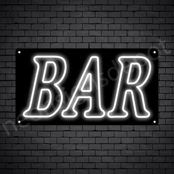 Bar sign White - Black