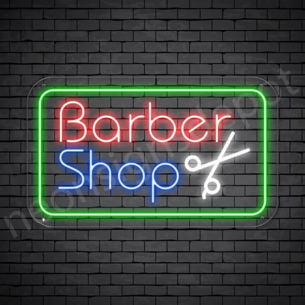 Barber Neon Sign Barber Shop Cut Transparent - 24x14
