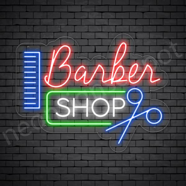 Barber Neon Sign Barbers Transparent - 24x18