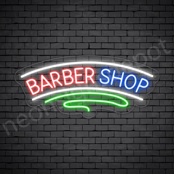 Barber Neon Sign Haircut Transparent - 24x10