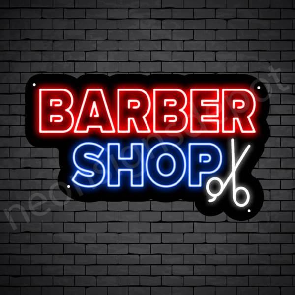 Barber Neon Sign 2OL Barbershop Black - 24x14