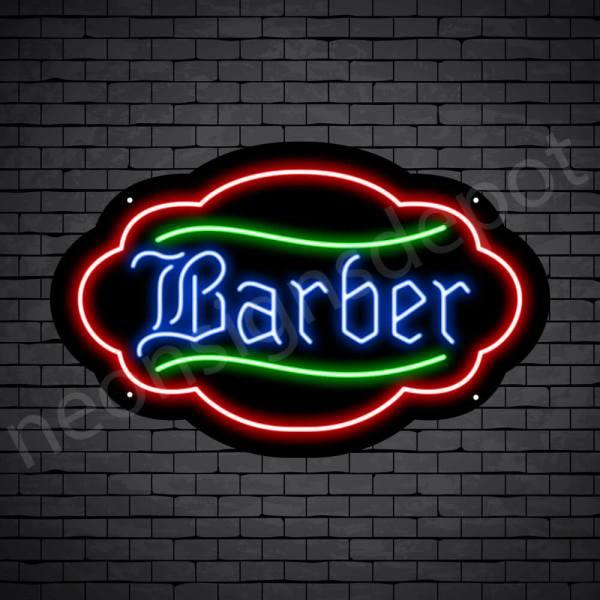 Barber Neon Sign King Barber Black - 24x15
