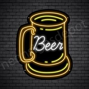 Beer Neon Sign Vintage Beer Transparent - 19x24