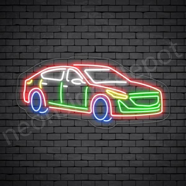 Car Neon Sign Cadillac CT5 Transparent - 30x14