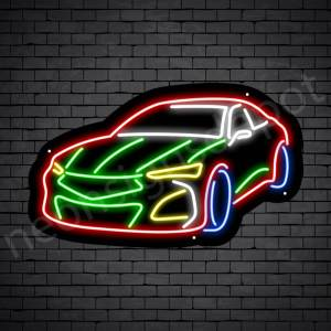 Car Neon Sign Zero Acura Black - 24x14