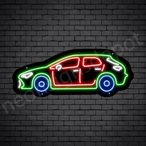Car Neon Sign Toyota Corolla Black - 24x10