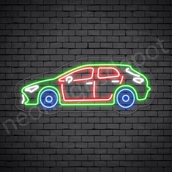 Car Neon Sign Toyota Corolla Transparent - 24x10