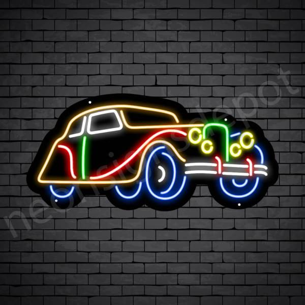 Car Neon Signs Vintage Black - 30x14