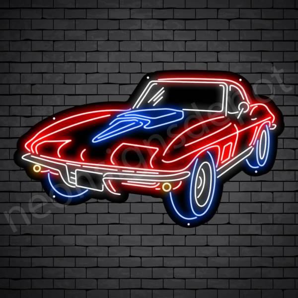 Corvette Stingray Neon Bar Sign - Black