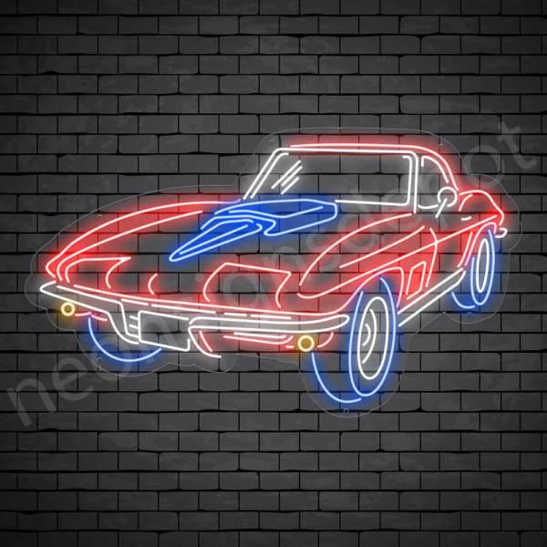 Corvette Stingray Neon Bar Sign - Transparent