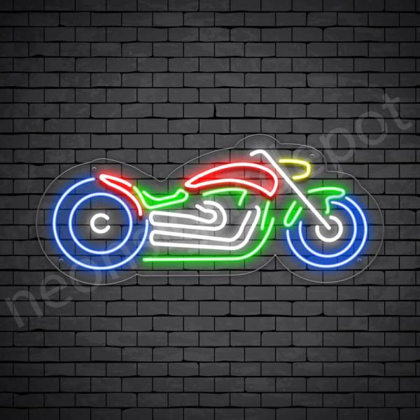 Motorcycle Neon Sign Bike Style Transparent - 24xx11