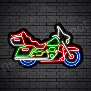 Motorcycle Neon Sign Motor Riders Big Bike Black - 24x14