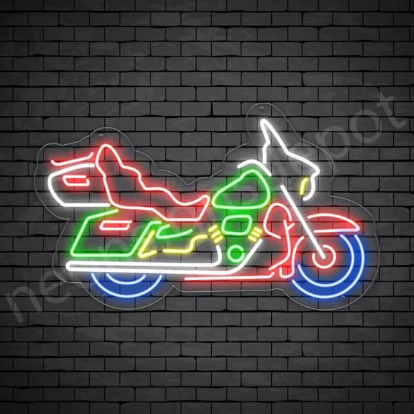 Motorcycle Neon Sign Motor Riders Big Bike Transparent - 24x14