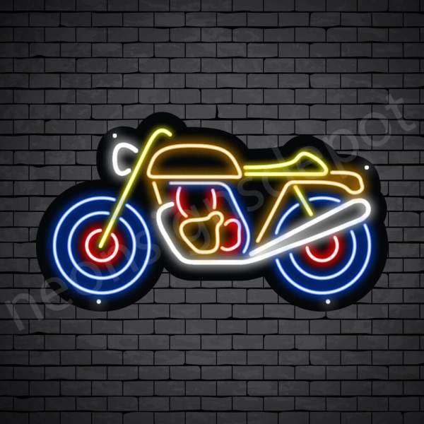 Motorcycle Neon Sign Motor Single Ride 24x14