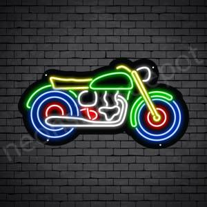 Motorcycle Neon Sign Motor Old Black - 24x13