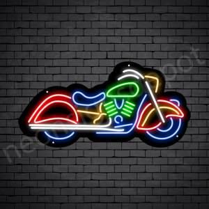 Motorcycle Neon Sign Riders Bike Black - 24x12