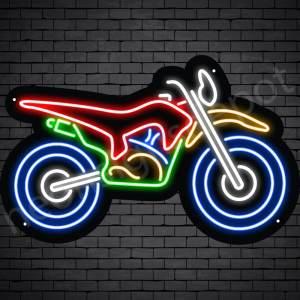 Motorcycle Neon Sign Bike Black - 24x15